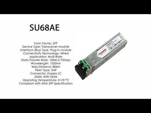 SU68AE  |  Marconi Compatible SFP 100Mbps/2.7Gbps 1550nm 80km DDM