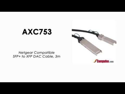 AXC753  |  Netgear Compatible SFP+ To XFP DAC Cable, 3m