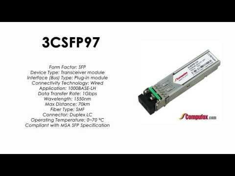 3CSFP97  |  3Com Compatible 1000BASE-ZX 1550nm 70km SFP