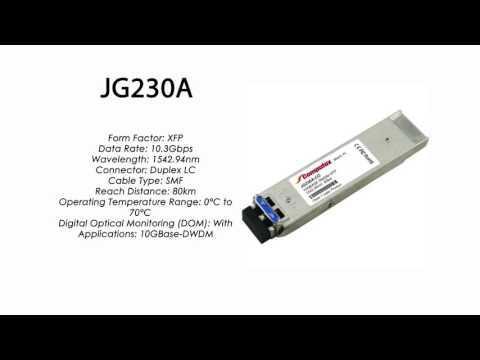 JG230A  |  HP Compatible 10GBase-DWDM XFP 1542.94nm 80km