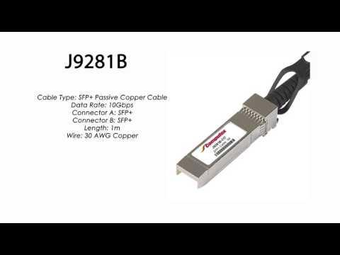 J9281B     HP Compatible SFP+ Passive Copper Cable 1m