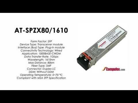 AT-SPZX80/1610  |  Allied Telesis Compatible 1000BASE-CWDM 1610nm 80km SFP