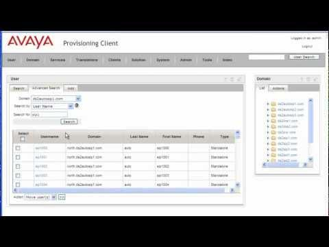 Avaya AS5300 User Management With Provisioning Client