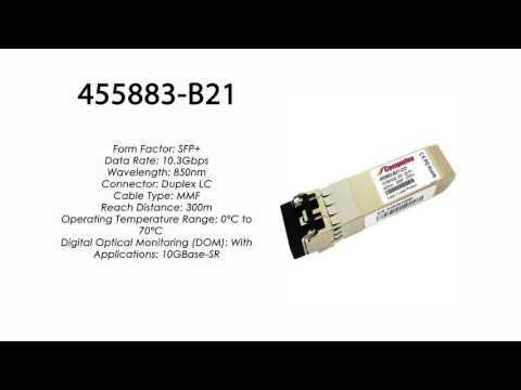 455883-B21  |  HP Compatible 10GBase-SR SFP+ 850nm 300m MMF