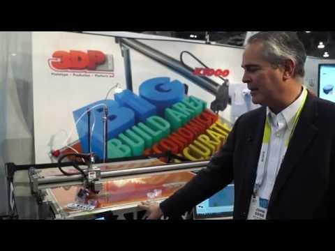 #CES2015: 3DP Unlimited's Large Format 3D Printer