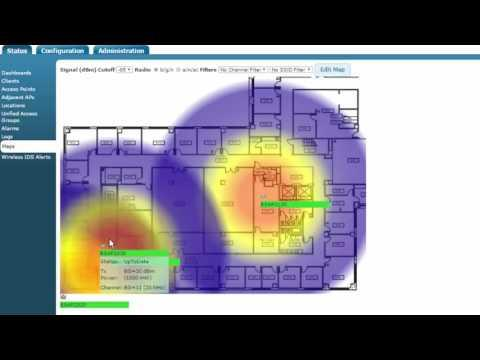 ADTRAN Bluesocket - VWLAN Create A VWLAN Heat Map