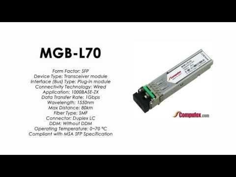 MGB-L70  |  Planet Compatible 1000Base-ZX 1550nm 70km SFP