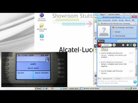 Alcatel-Lucent Showroom - OmniPCX Enterprise Mit Einen Skip2PBX Gateway Für Skype