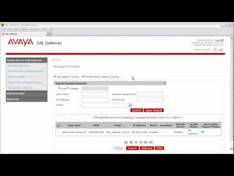 How To Add A Managed Element To Your Avaya Secure Access Link Gateway With SNMPv3 Support