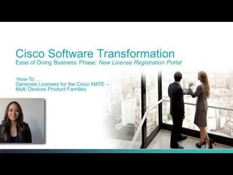 EoDB3: How-To Generate Licenses For The Cisco MATE Multi Device Product Families