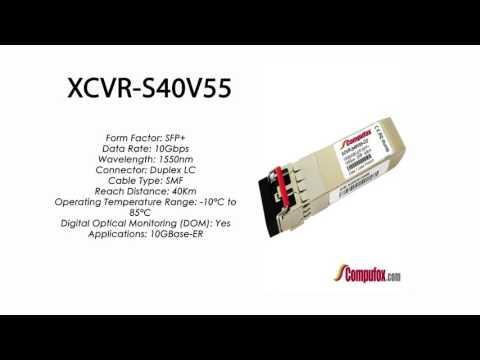 XCVR-S40V55  |  Ciena Compatible 10GBase-ER 40km 1550nm SFP+