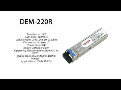 DEM-220R | D-Link Compatible 100Base-BXU SFP Tx1310nm/Rx1550nm 20km