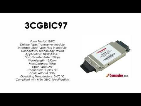 3CGBIC97  |  3Com Compatible 1000BASE-ZX 1550nm 70km GBIC