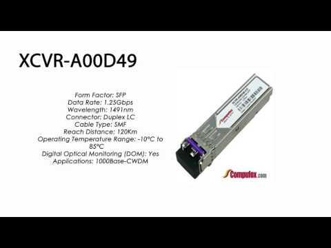 XCVR-A00D49  |  Ciena Compatible 1000Base CWDM ZXL 120km 1491nm SFP
