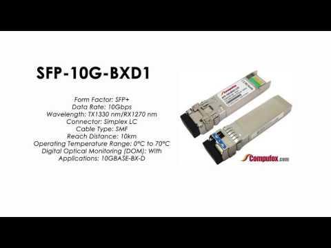 SFP-10G-BXD1  |  Huawei Compatible SFP+ 10GBASE-BXD TX1330nm/RX1270nm 10km