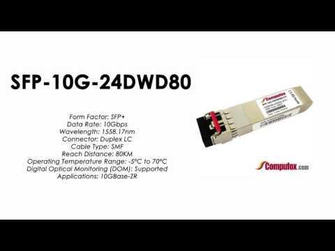 SFP-10G-24DWD80  |  Alcatel Compatible 10GBase-DWDM 1558.17nm 80km SFP+
