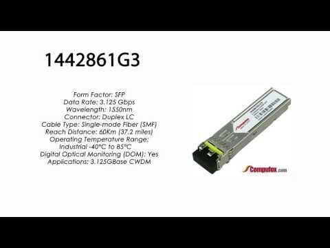 1442861G3  |  Adtran Compatible 3.125Gbps 1550nm 60km CWDM SFP