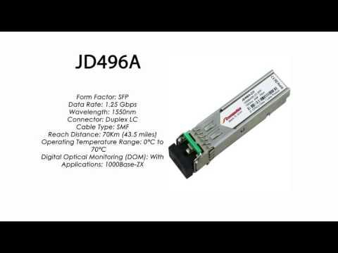 JD496A | HP Compatible 1000Base-ZX 1550nm 70km SFP