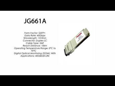 JG661A | HP Compatible 40GBase-LR4 QSFP+ 1310nm 10km