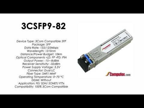 3CSFP9-82  |  3Com Compatible 100BASE-LX10 1310nm 10km SFP