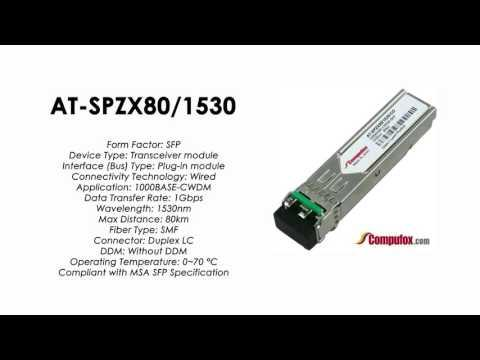 AT-SPZX80/1530  |  Allied Telesis Compatible 1000BASE-CWDM 1530nm 80km SFP