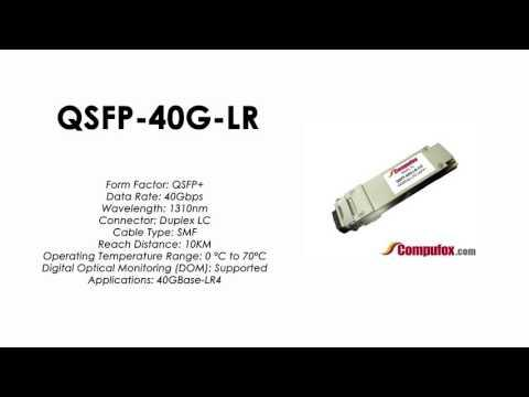 QSFP-40G-LR  |  Alcatel Compatible 40Gbps 1310nm 10km QSFP+