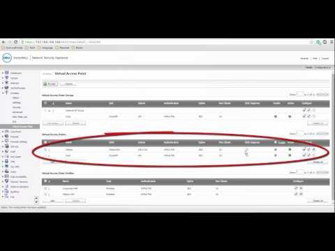 SonicWALL - How To Configure Virtual Access Point Profiles For Multiple SSIDs For Built-in Wireless