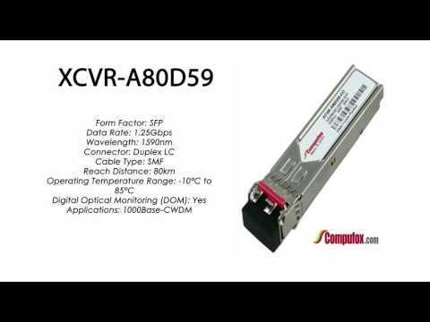 XCVR-A80D59  |  Ciena Compatible 1000Base-CWDM 80km 1590nm SFP