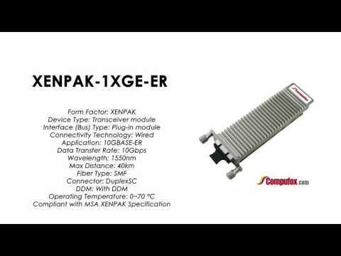 XENPAK-1XGE-ER     Juniper Compatible 10GBASE-ER XENPAK 1550nm 40km SMF