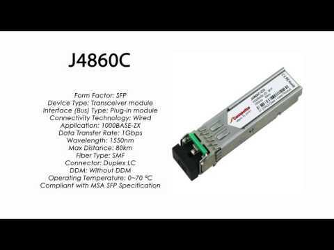 J4860C | HP Compatible 1000Base-ZX 1550nm 80km SMF SFP