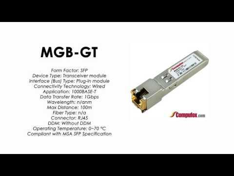 MGB-GT  |  Planet Compatible 1000Base-T RJ-45 100m SFP