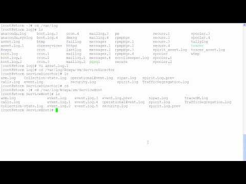 Log Locations In Avaya Session Manager