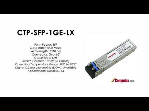 CTP-SFP-1GE-LX  |  Juniper Compatible 1000BASE-LX SFP 1310nm 10km SMF