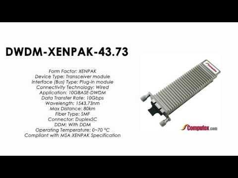 DWDM-XENPAK-43.73  |  Cisco Compatible 10GBASE-DWDM XENPAK 1543.73nm 80km