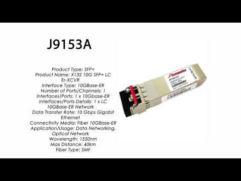 J9153A  |  HP Compatible 10GBase-ER SFP+ 1550nm 40km