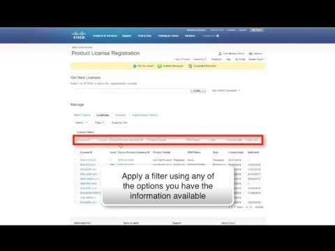 Content Security (IronPort) - Retrieve A License