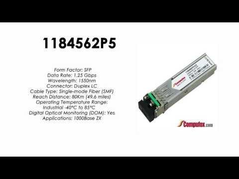 1184562P5  |  Adtran Compatible 1.25Gbps 1550nm 80km SFP
