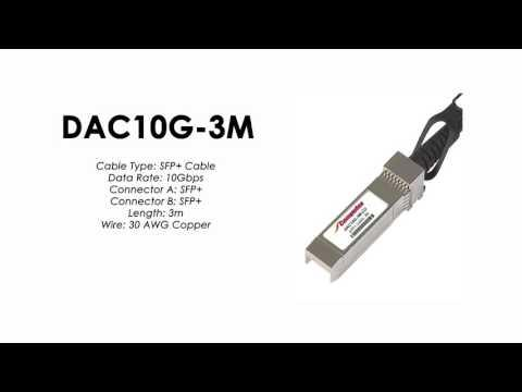 DAC10G-3M | ZyXEL Compatible SFP+ to SFP+ Direct Attach Cable, Copper Passive, 3m