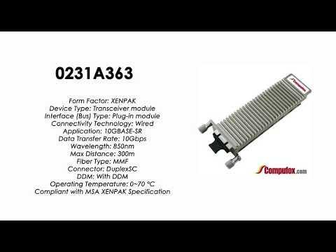 0231A363  |  Huawei Compatible XENPAK 10GBASE-SR 850nm MMF 300m