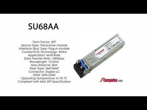 SU68AA  |  Marconi Compatible SFP 100Mbps 1310nm 2km DDM