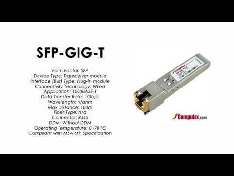 SFP-GIG-T  |  Alcatel Compatible 1000BASE-T RJ45 100m SFP