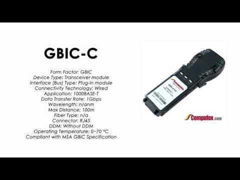 GBIC-C     Alcatel Compatible 1000Base-TX RJ-45 100m GBIC