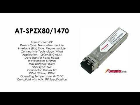 AT-SPZX80/1470  |  Allied Telesis Compatible 1000BASE-CWDM 1470nm 80km SFP
