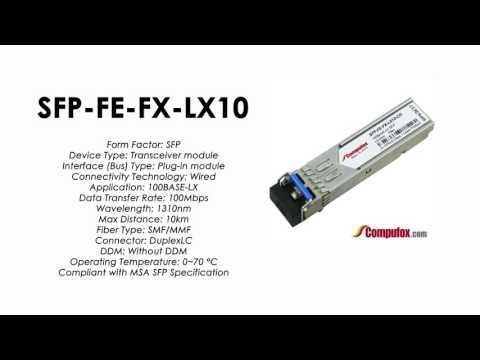 SFP-FE-FX-LX10  |  Redback Compatible 100BASE-LX 1310nm 10km SFP