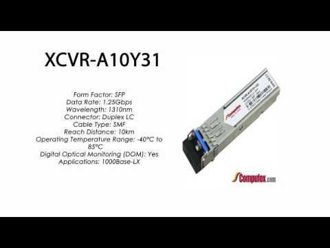 XCVR-A10Y31  |  Ciena Compatible 1000Base-LX 10km 1310nm SFP