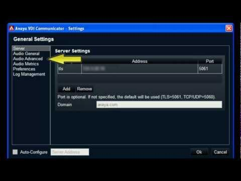 How To Configure The Advanced Audio Settings On The Avaya VDI Communicator