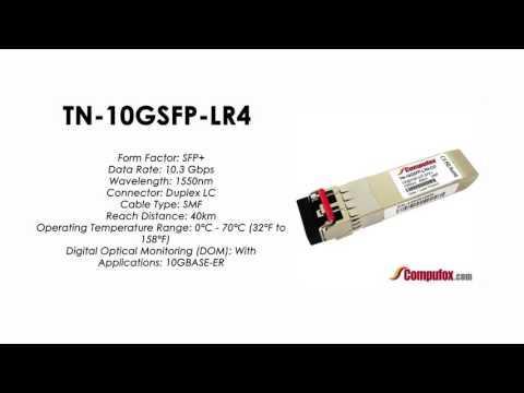 TN-10GSFP-LR4  |  Transition Compatible 10GBASE-ER SFP+, 1550nm SMF 40km