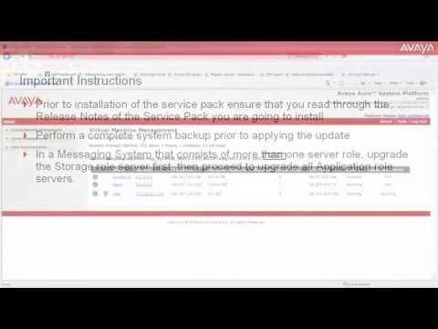 How To Install Service Pack On Avaya Aura Messaging (French Version)