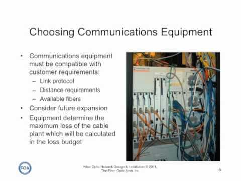 FOA Lecture 10: Fiber Optic Network Design Part 2