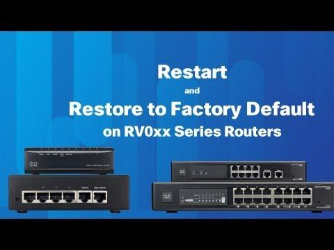 Restart And Restore On RV0XX Series Routers